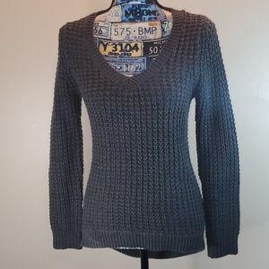 Rue21 gray open knit high low sweater